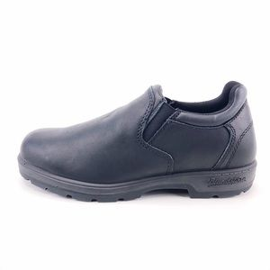 Blundstone Black Leather Low Cut Slip-On Shoes 7.5